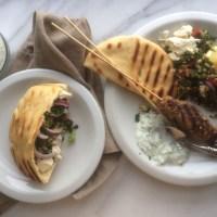Lebanese Lamb Kafta Kebabs and Tabbouleh Salad