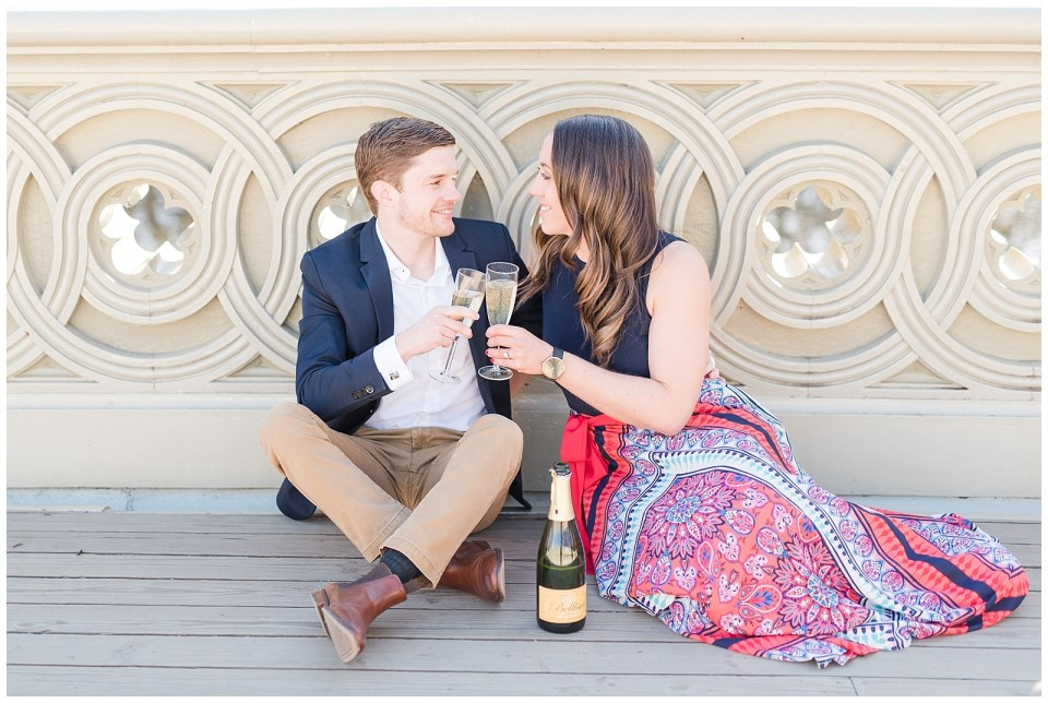 new-york-city-central-park-champagne-toast-engagement-photo