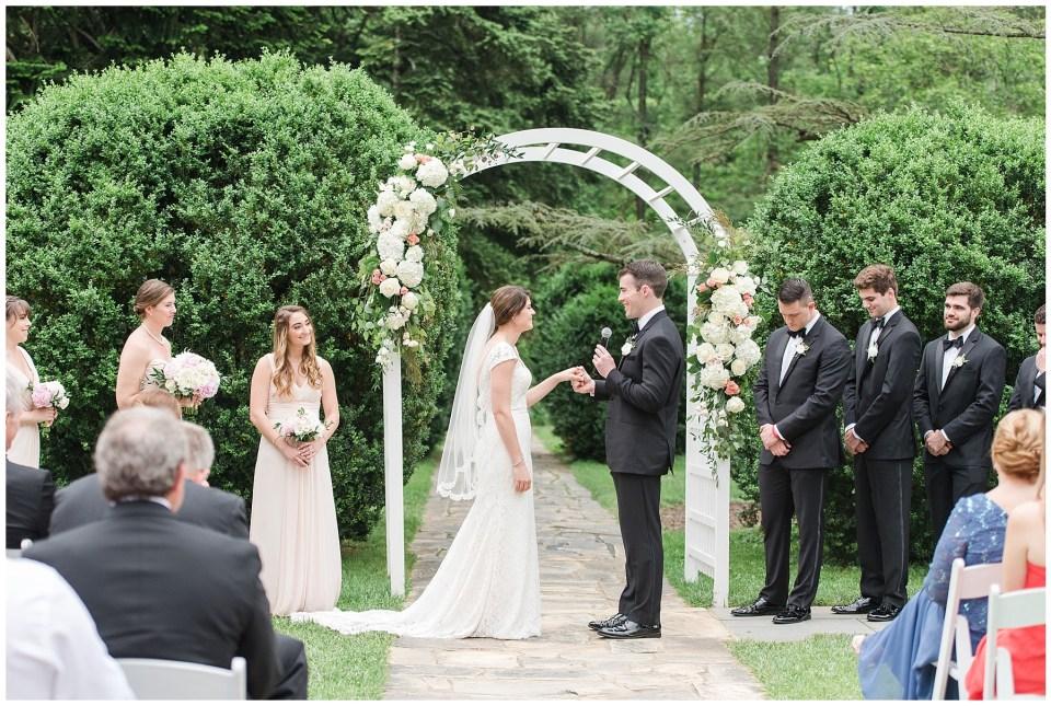 rust manor house wedding photos ceremony in garden