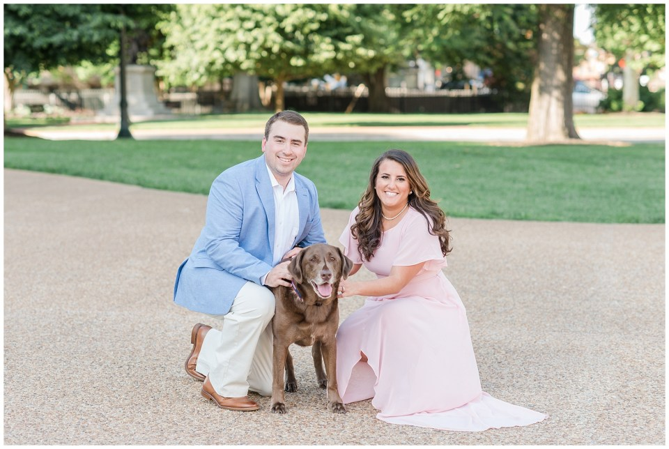 virginia-state-capitol-engagement-photo-with-dog