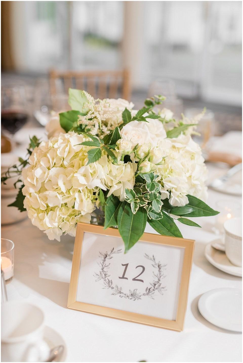 Westwood Country Club Wedding Centerpiece Photo