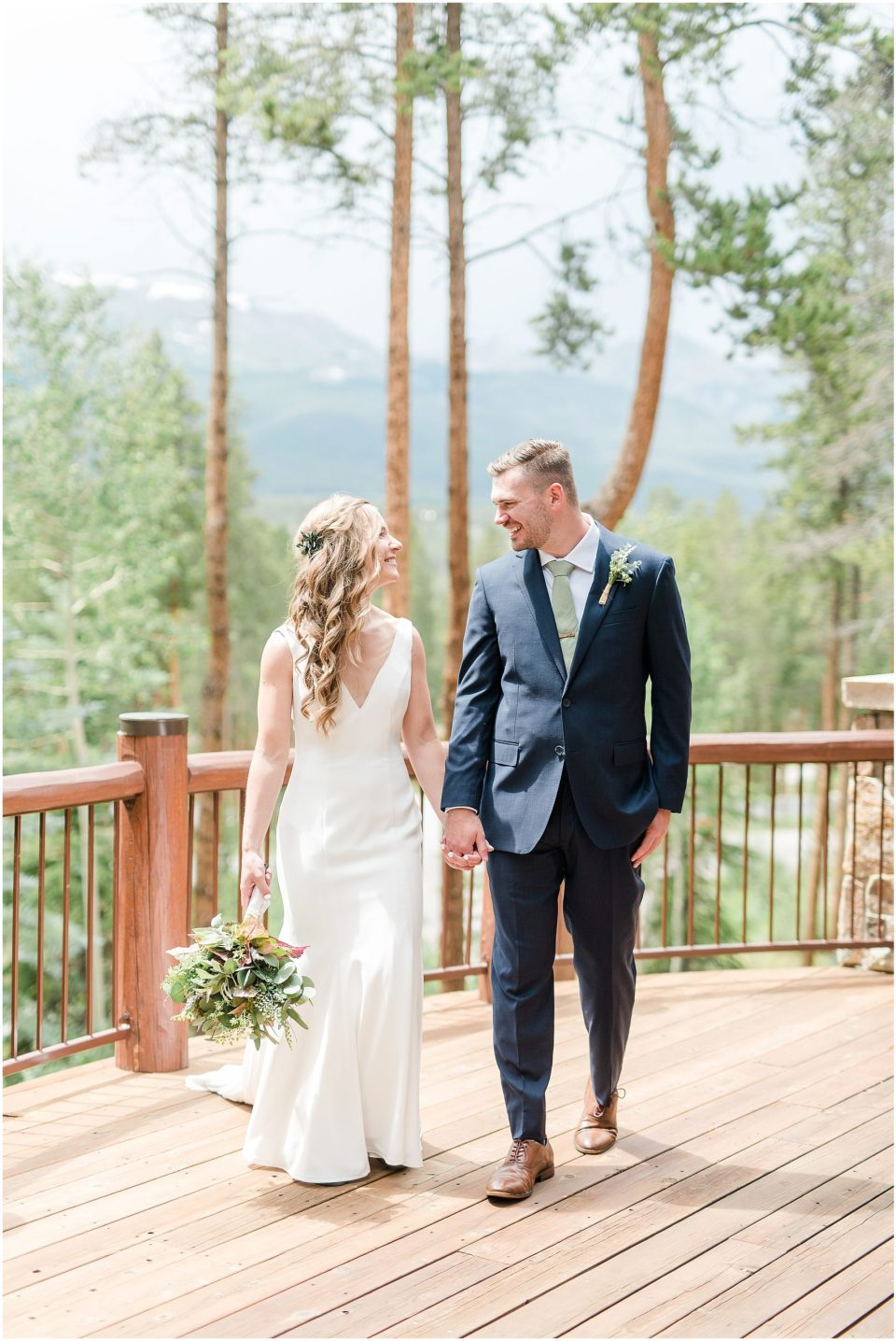 breckenridge colorado mountain view wedding