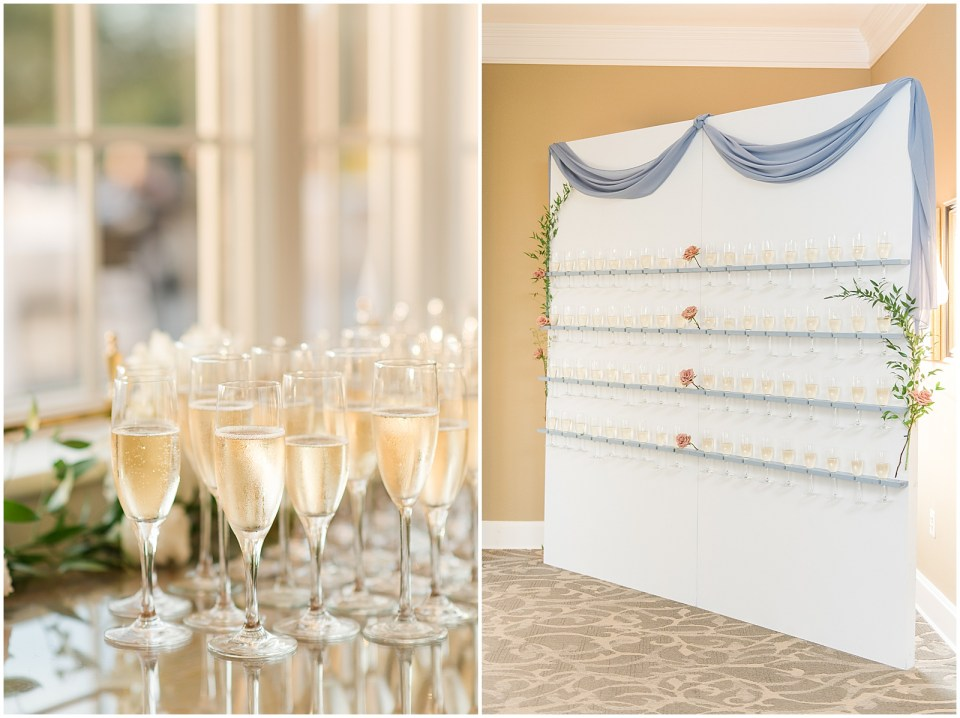 wedding champagne wall photo