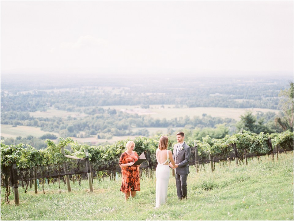 bluemont vineyard elopement photos