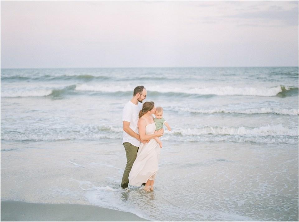 family beach photos on film