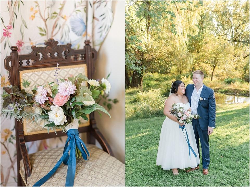 fall floral arrangement wedding photo