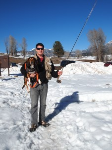 T and Rocky fly-fishing