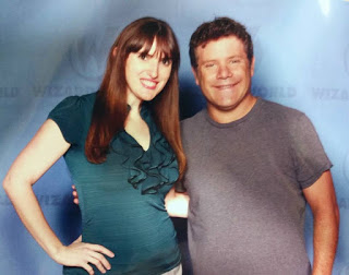 Sean Astin and Author of Young Adult Fantasy Books, Obsidian Series, at Wizard World Comic Con