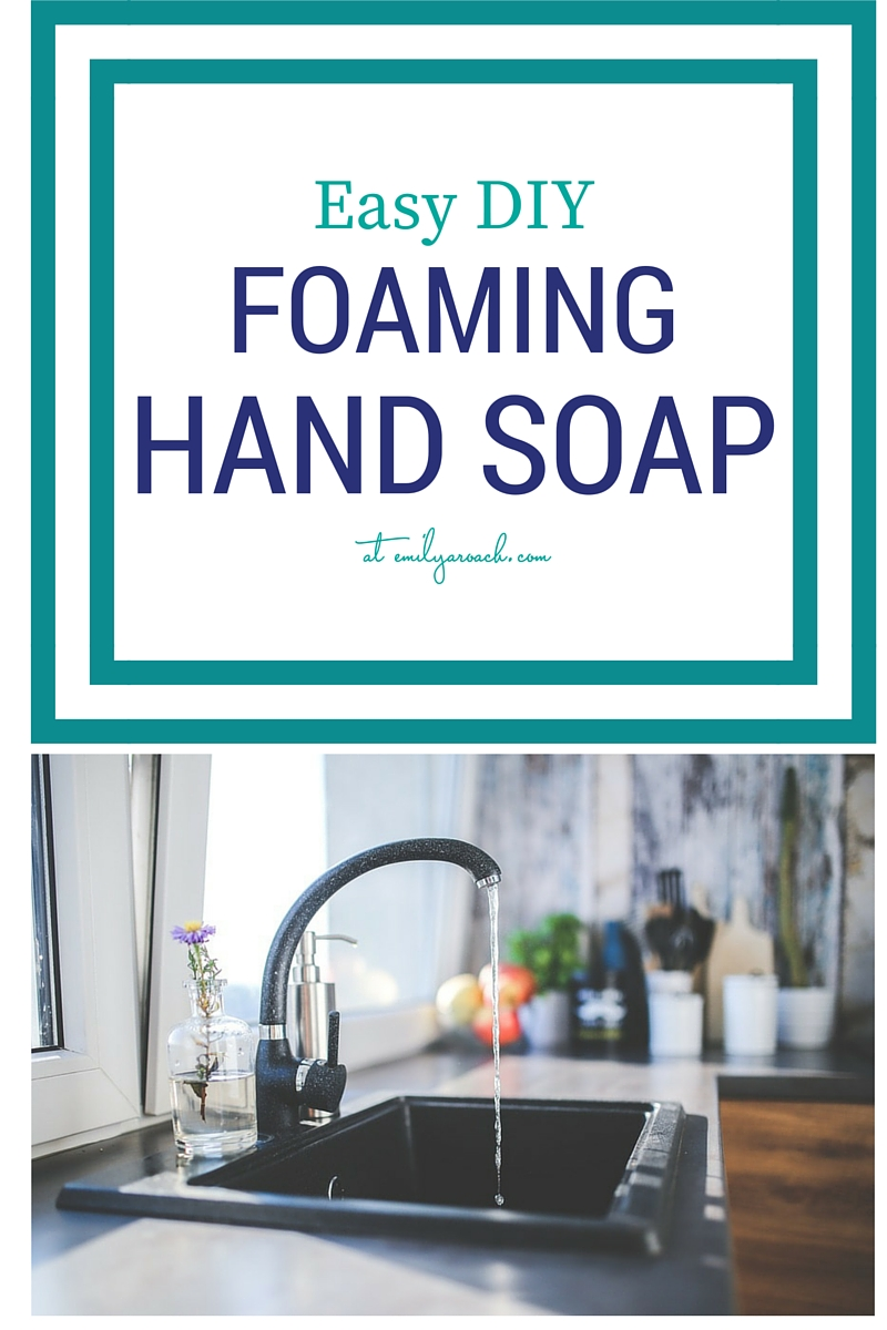 Super easy DIY foaming hand soap recipe that is non-toxic and cheap. Just a couple of basic ingredients and you can customize it with your essential oils.