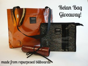 Relan Bag Giveaway at Random Recycling blog