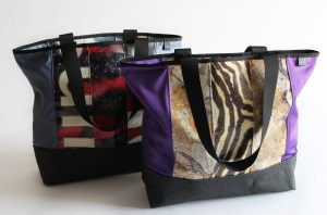 Relan Bag Tony Tote using repurposed billboard vinyl