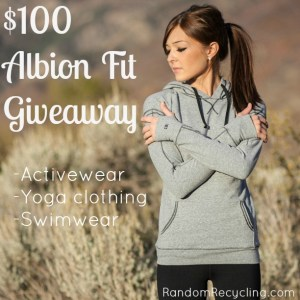 Albion Fit Giveaway RandomRecycling