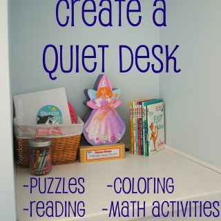 Creating a Quiet Activity Desk for Project Simplify Part 2