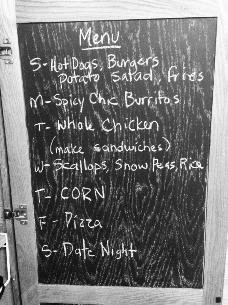 Monday Meal Plan Board