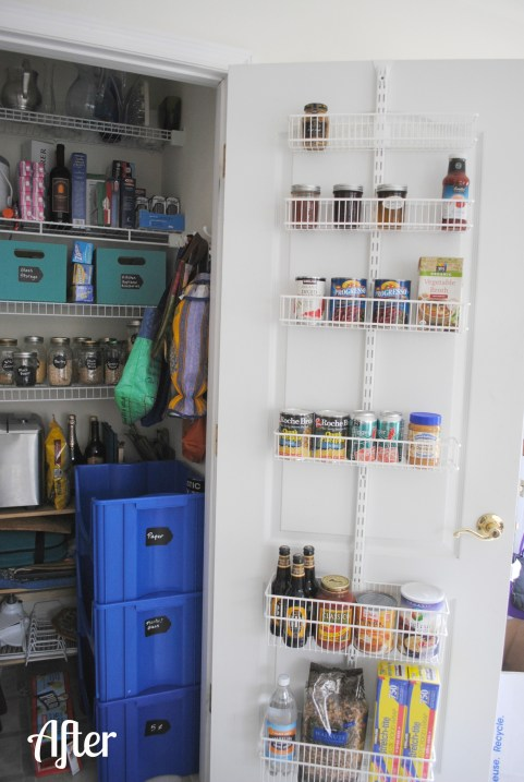 Pantry Closet After RandomRecycling.com