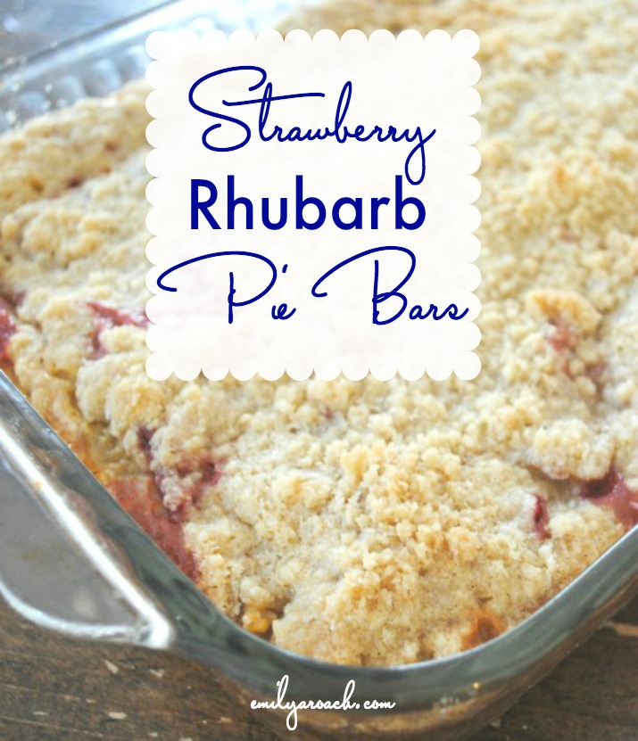 This recipe is the perfect sweet treat on a summer day, Strawberry Rhubarb Pie Bars. Simple recipe that uses fresh, local fruit.