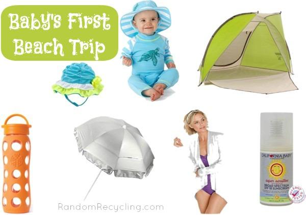Babys First Beach Trip