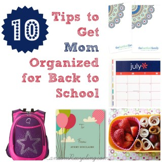 Time to get mom organized for back to school (Giveaway)