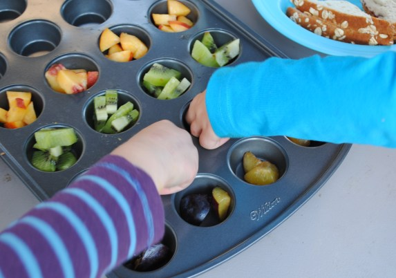 Use a muffin tin to serve a variety of food