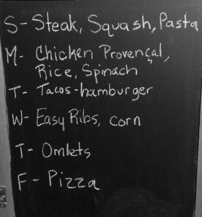 Monday Meal Plan Nov 18