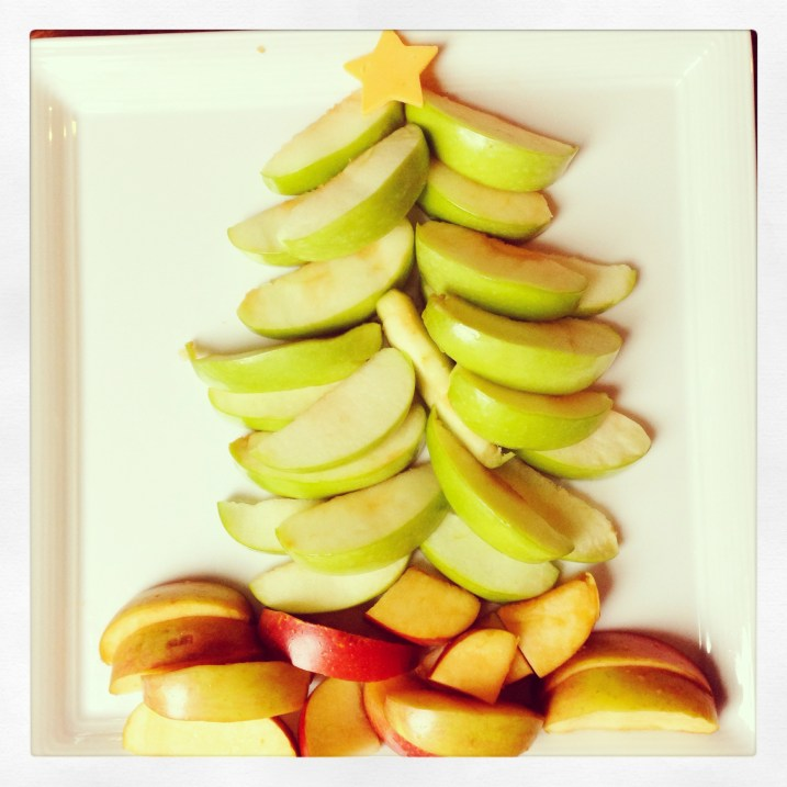 Apple Christmas Tree appetizer