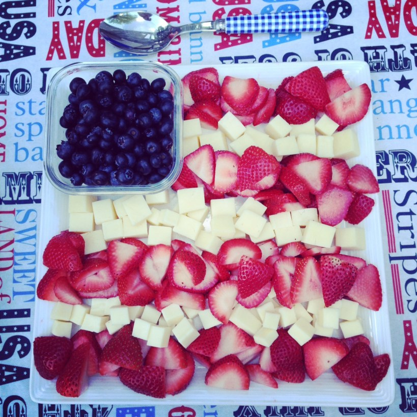 memorial day patriotic fruit tray