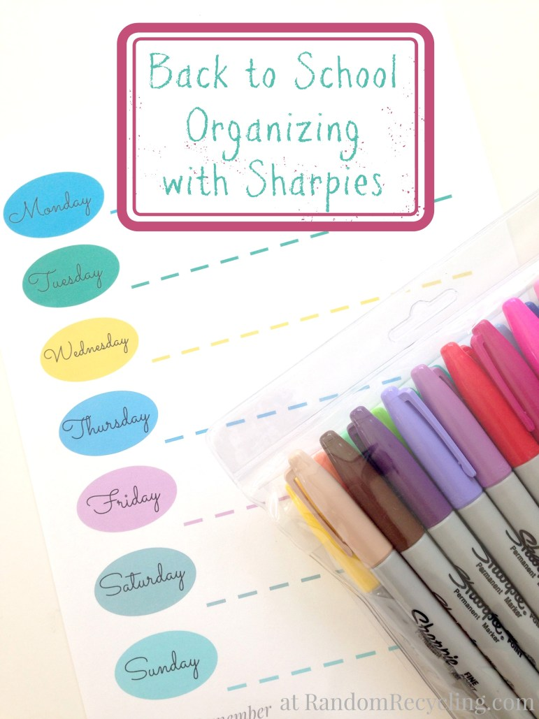 Back to School Organizing with Sharpies
