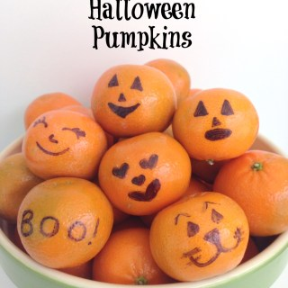 Spooky Halloween Clementine Faces