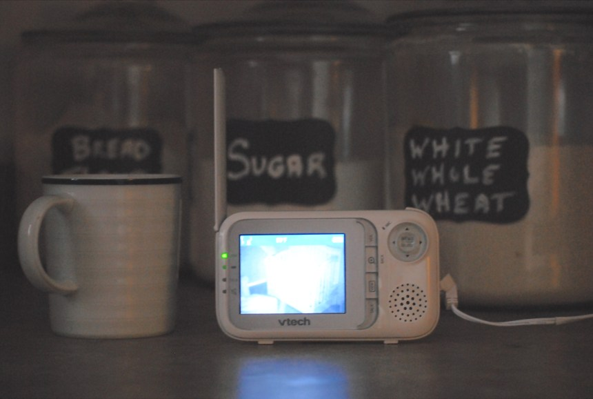 Video Baby Monitor at home in the kitchen