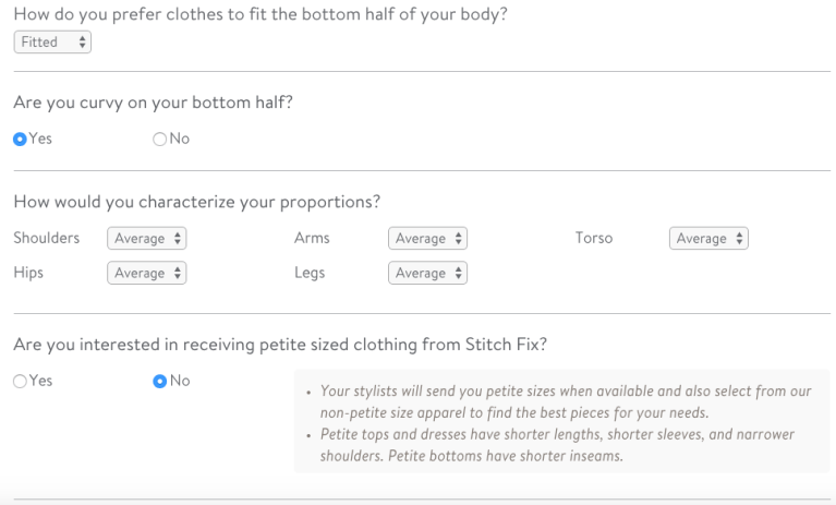 Take the time to fully update your StitchFix Profile to make it work for you.