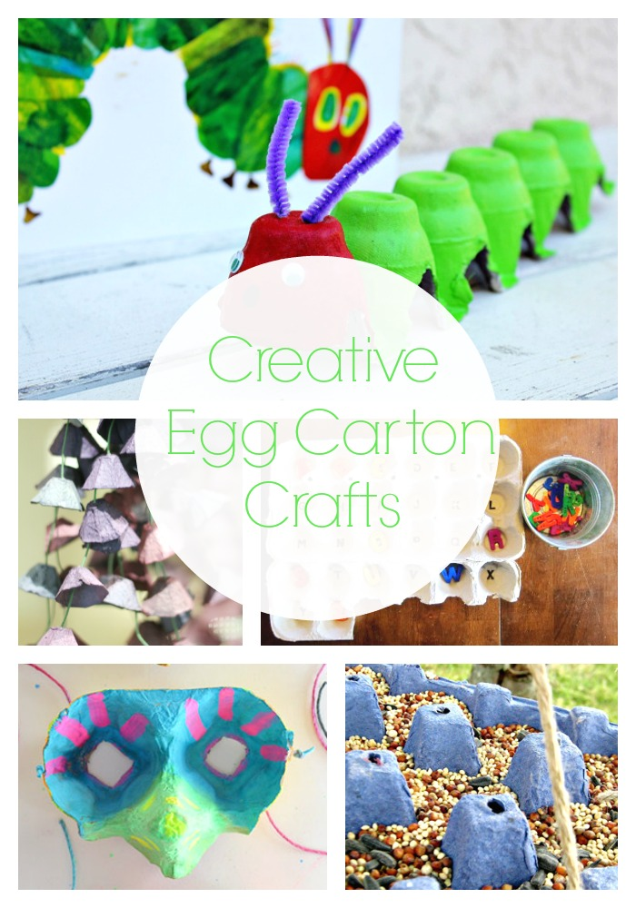 Kids Egg Carton Craft Projects