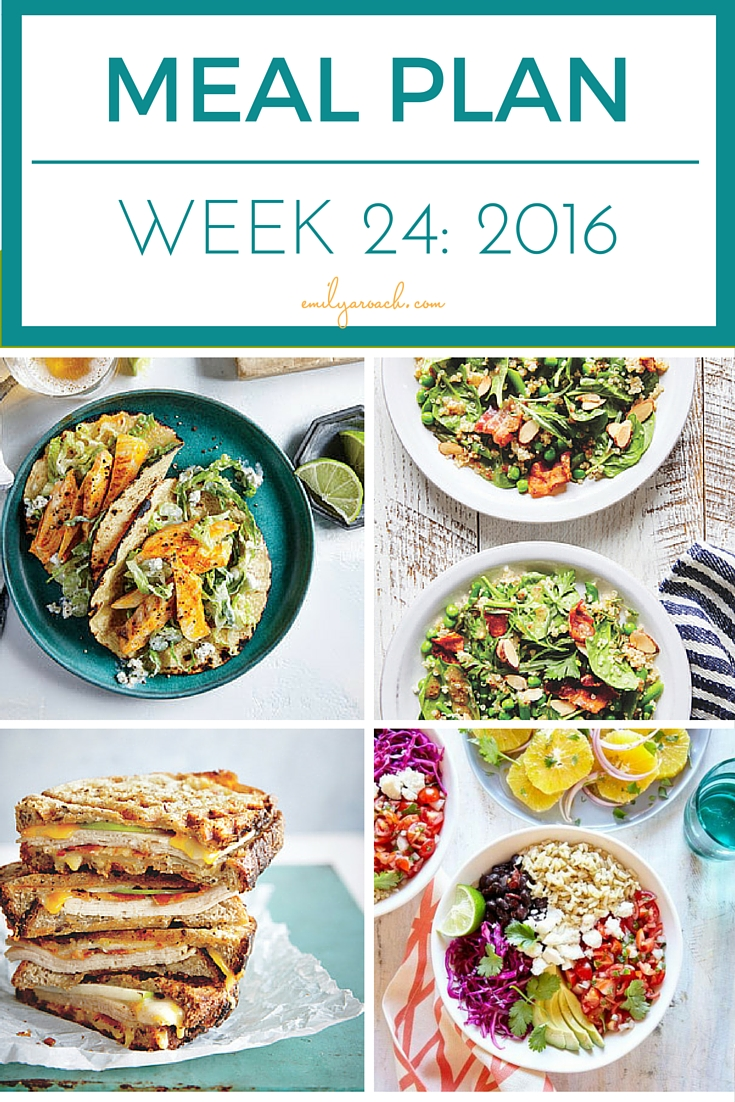 Healthy Simple Weekly Meal Plan