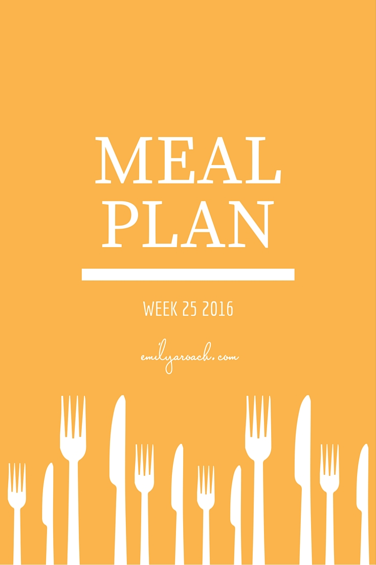 meal plan week 25 pinterest