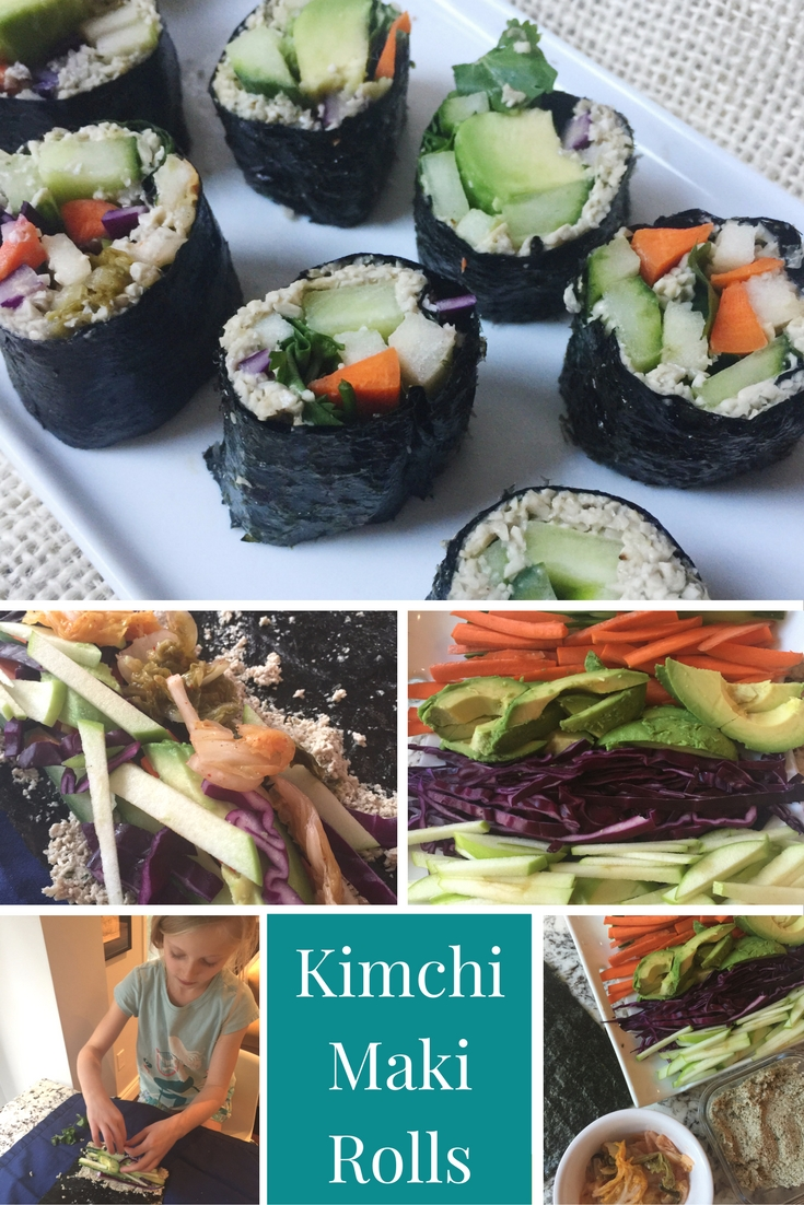 Kimchi Maki Rolls Academy of culinary nutrition program homework