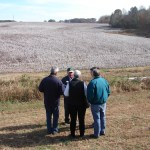 Cotton farmer Ronnie Burleson answering questions