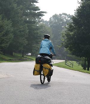 Emily riding a bike