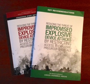 two booklets about improvised explosive devices