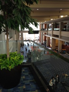 view inside the convention center