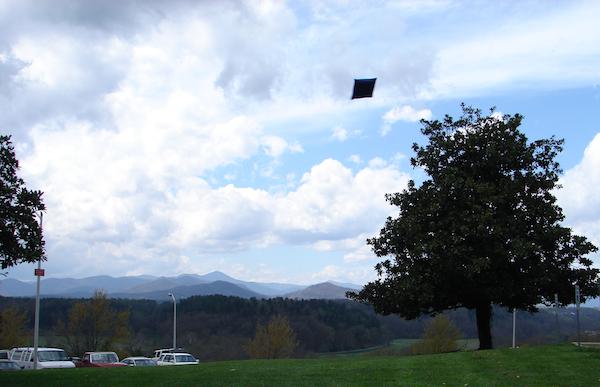 bean bag flying through the air in Asheville