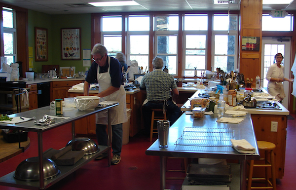the cooking studio at the folk school