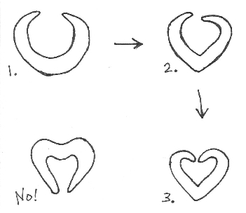 heart-shaped baguettes diagram