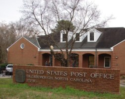 the Hillsborough post office