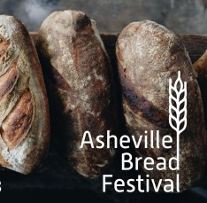 artisan breads with logo for Asheville Bread Festival