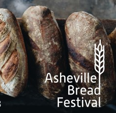 artisan breads with logo for Asheville Bread Festival