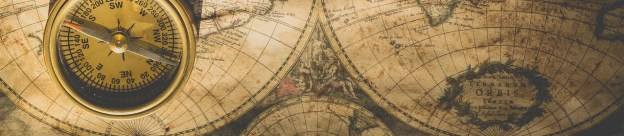 old map with compass