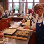 Nancy shows off her bialy