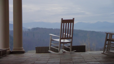 a rocking chair in Asheville