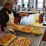 Focaccia hot from the oven