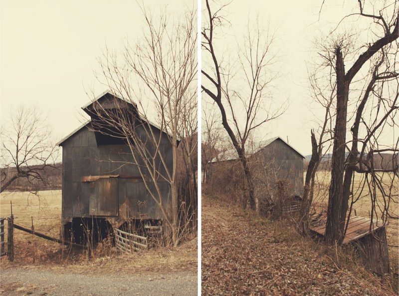 Old barn diptych