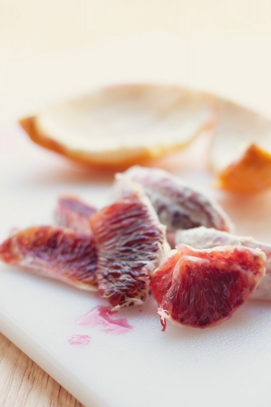 Blood orange segments